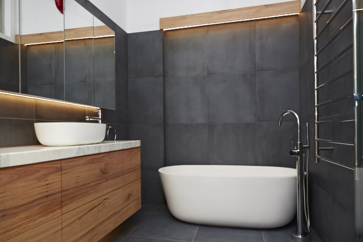 Modern Warehouse Style Design Bathroom Renovation Project In Clifton Hill, Vic 3068 By Bathtime Bathrooms - Your Melbourne Bathroom Renovation Specialists